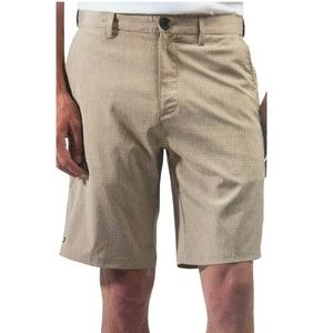 NWT Micros Men's 2-Way Stretch Flat Front Shorts